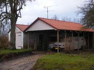 Nybygget carport