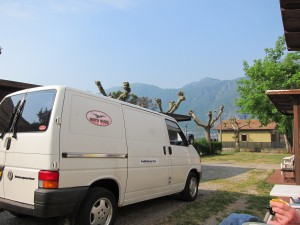 Campingpladsen i Mandello